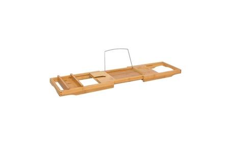 Bamboo Bathtub Caddy Shower Bathtub Tray Organizer c40ffb70-087f-46da-be13-b69851bdb810