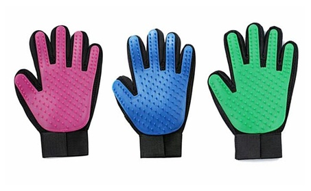 Pet Grooming Glove - Gentle Deshedding Brush and Washing Glove bfe06032-d57f-4fea-ad5b-80630d332215