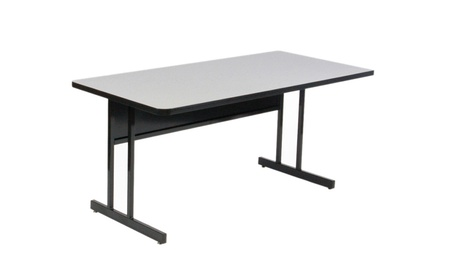 "Corell 1 1/4"" High Pressure Top, Trapezoid, Computer/Training Table a421f52d-0249-4dc3-8e48-146d8e8c859e"