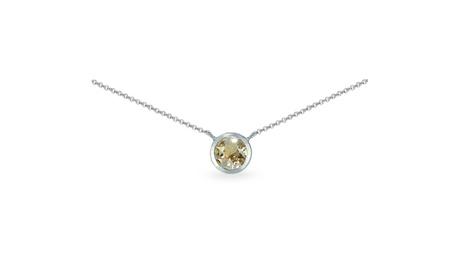 925 Silver Golden Shadow Bezel-Set Choker Necklace Made w/ European Crystals