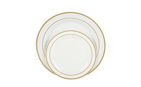 Premium Disposable Plastic Plates Dinner Wedding Silver Gold White 39590fb8-b4f0-4850-af7b-436f4e098eae