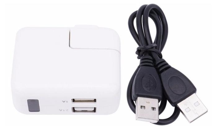 Mini 2 Port USB Wall Charger Hidden Camera 1080P HD DVR Recorder