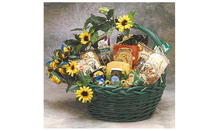 Sunflower Treats Gift Basket Large  sc 1 st  Groupon & Sunflower Treats Gift Basket Large | Groupon