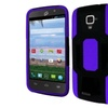 Insten Hard Dual Layer Silicone Cover Case For Zte Rapido Black/purple