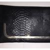 Black Leather Crocodile Pattern Hand Purse/Handbags with Strap Drop