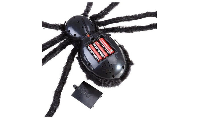 bestomz giant halloween spider 125cm with led eyes spooky