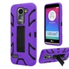 Insten Skin Hybrid Case For Lg Leon/power/tribute 2 Purple/black