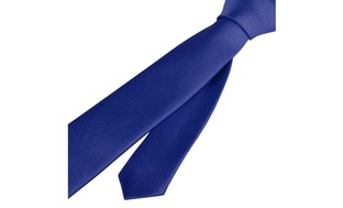 Zodaca Navy Blue Casual Slim Plain Men's Solid Skinny Neck Tie Necktie