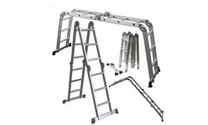 12.5 ft 330lbs Folding Aluminum Multi Purpose Telescopic Extension Ladder