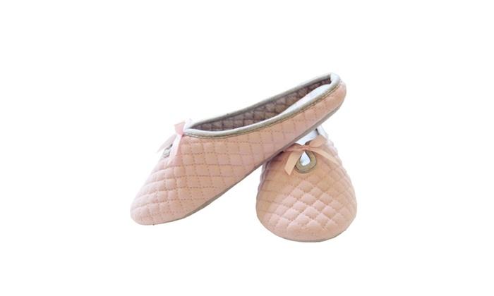 Women Lady's Slip-on Soft Warm Cotton Indoor Ballet Slippers