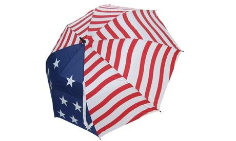 "JEF World of Golf USA 62"" Dual Canopy Umbrella, Stars and Stripes b4d86180-14c2-4584-8faf-7d73d9ce3286"