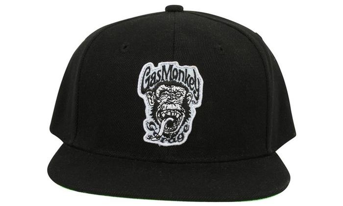 fe1b57a6abcd7 Gas Monkey Garage Baseball Cap Green Monkey Official Black Snapback ...