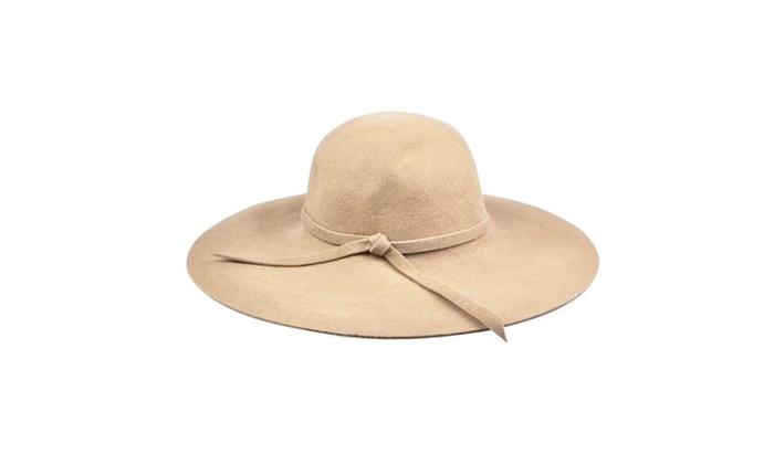 Tess Wool Floppy Hat in Beige