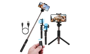 Extendable Selfie Stick Tripod with Bluetooth Remote for Smart Phones