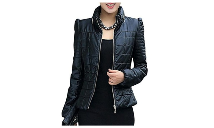Umanak Fancy Women's Faux Leather Slim Fit Puff Down Jacket Nice
