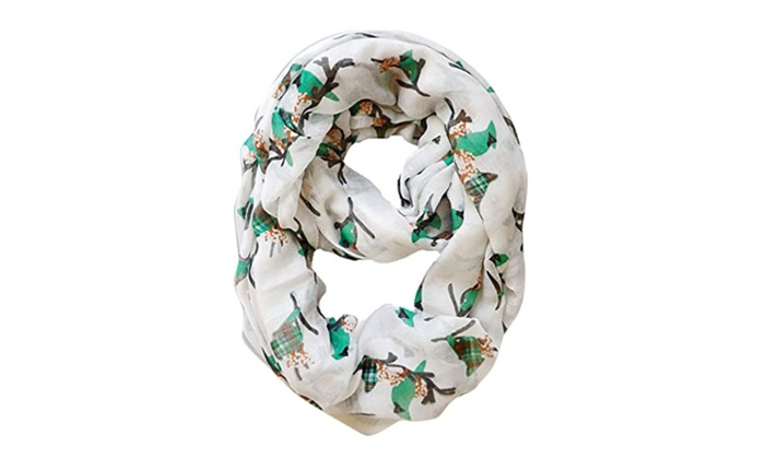 Super Peach Couture Blue Jay Bird Print Infinity Loop Scarf Groupon Gamerscity Chair Design For Home Gamerscityorg