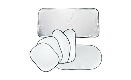 Silvered Sun Shade for Car Windows (6 pack) Blocks 97% UV Rays d30eb2de-310f-4bf3-8035-f1053ffa7242