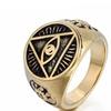 316L Stainless Steel Eye Symbol Men's Ring