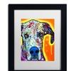 Dean Russo 'Great Dane' Matted Black Framed Art
