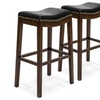 """(2) Backless Faux Leather Upholstered 31"""" Counter Stools"""