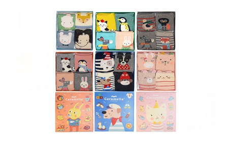 Cartoon Women's Socks - 4 Pairs in a Gift Box ebb2d9ad-fe7f-4343-b86c-dd6b63989db5