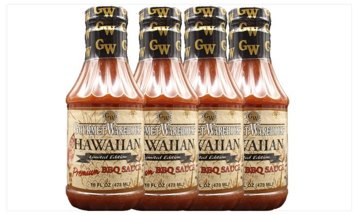 Gourmet Warehouse Craft Style Hawaiian BBQ Sauce - 4 Pk