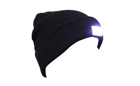 5 LED Knitted Beanie Hat One Size Fits most Hands Free Black Beanie f6fa4a92-690f-4843-856f-5c1aa7d97eca