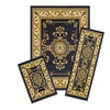 Capri 3 Piece Rug Set - Royal Crown - Navy