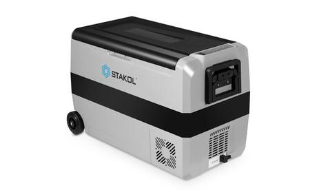STAKOL 53 Quarts Portable Electric Car Cooler Refrigerator/Freezer Wheels