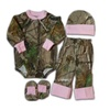 Baby Girls Realtree Pink Camo Gift Set: Shirt Pants Hat Booties 4pc