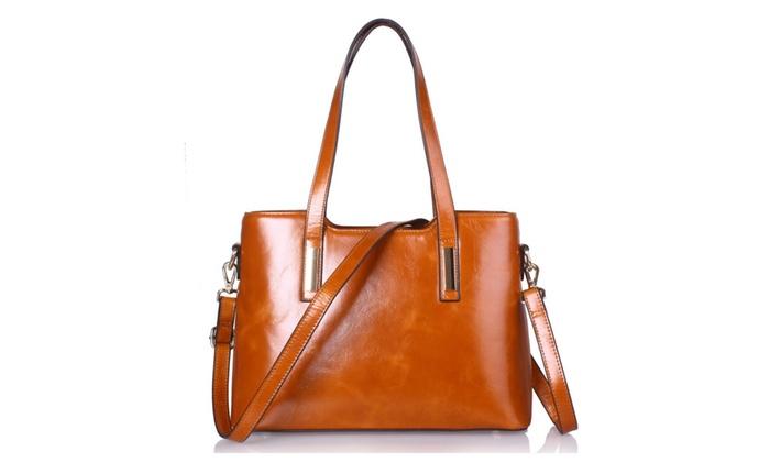 940d8188d89 Yafeige Women s Handbags Vintage Genuine Leather Shoulder Bags Tote ...