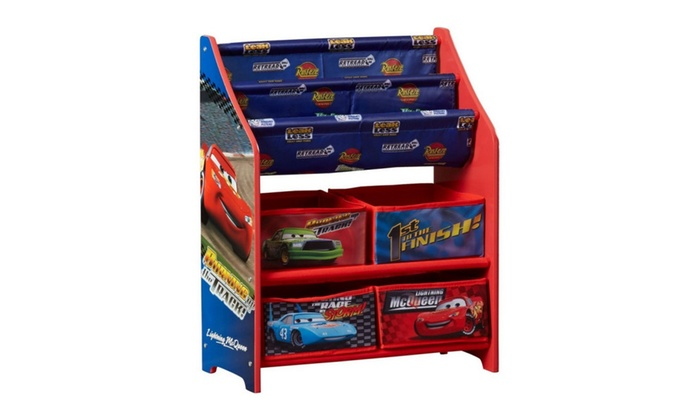 children disney cars book and toy organizer