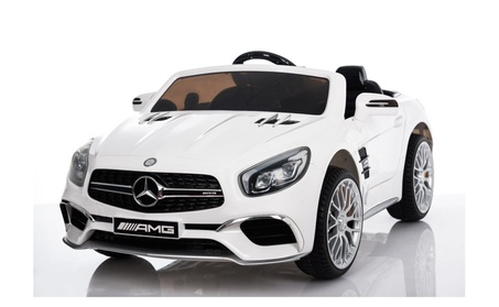 12V Mercedes AMG SL65 Ride on Electric Car For Kids w/RC White