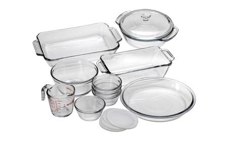 Anchor Hocking Oven Basics 15-Piece Glass Bakeware Set 44cbc9c5-5919-4558-a2ad-d8258b3844dc