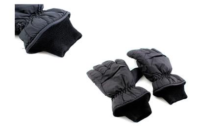 Full Finger Black Waterproof Motorcycle Snowboard Ski Gloves 4647d817-5759-4059-8161-3f2f107d49b5