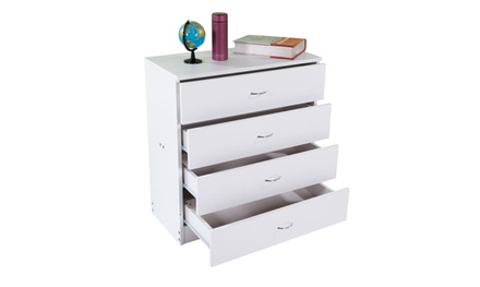 MDF Wood Simple 4-Drawer Dresser FCH