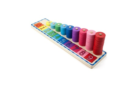Brybelly Holdings Wooden Wonders Colorful Counting Number Stacker 5fa4ab1e-b8b7-4e90-bcd4-52479cc81f04