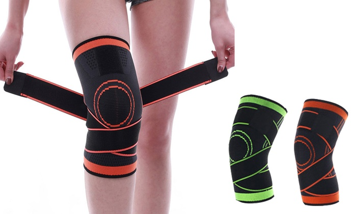 98c7e70234 Compression Knee Sleeve with Adjustable Straps Support Pad Nylon Silicon  Brace