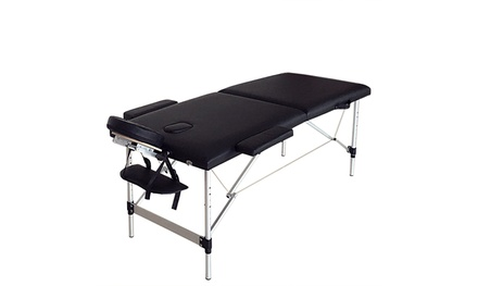 Massage Table Bed Portable Facial SPA Bed Heigh Adjustable Aluminium Frame
