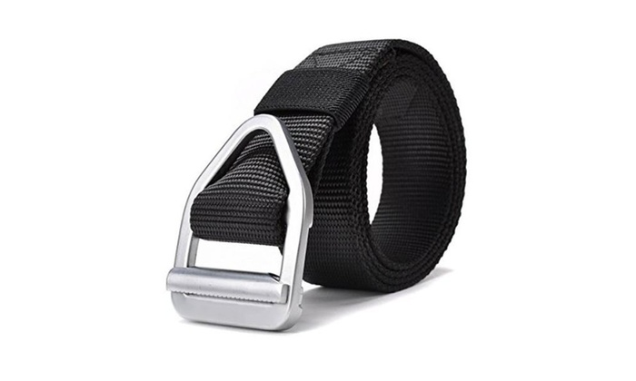 Men's Nylon Military Casual Army Outdoor Tactical Webbing Buckle Belt