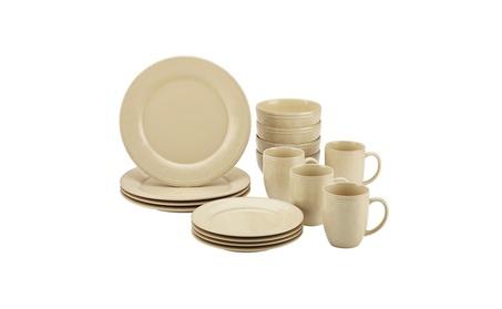 Rachael Ray Cucina Dinnerware 16-Piece Stoneware Dinnerware Set 6f7210c1-c575-4275-921a-206b34136f6f