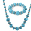 Turquoise and Swarovski Crystal Necklace and Bracelet Set (2-Piece)
