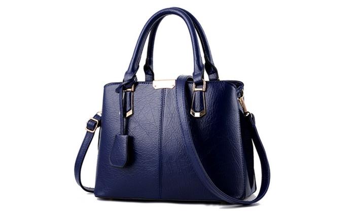 be5921e1c310 Women s Fashion PU Leather Cross-Body Bags Shoulder Bag Top-Handle ...