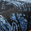 LR Home Infinity Distressed Feather Black / Blue Indoor Area or Runner Rug