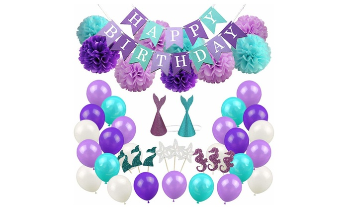 mermaid party supplies party decorations for girls birthday party