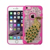 Insten Peacock Bling Diamante Case For Iphone 6 6s Plus Clear Hot Pink
