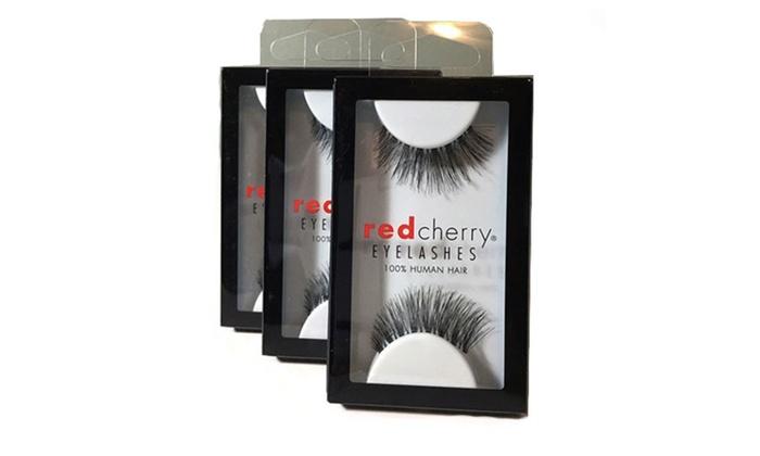 a0d347897a0 3 Pairs) Red Cherry Lashes #43 Stevi False Eyelashes Human Hair ...