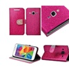 Insten Pink Glitter Leather Stand Case For Samsung Galaxy Core Prime