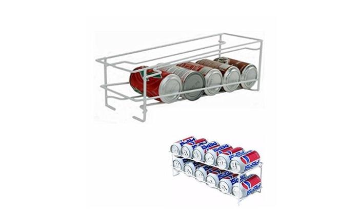 ... XPRESSWAY: Soda Can Beverage Dispenser Rack Holds 12 Cans Holder  Kitchen Storage
