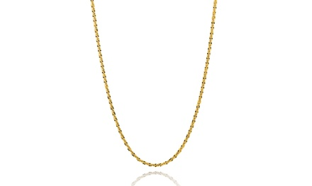 18K Gold Over Sterling Silver Diamond Cut Roc Chain Necklace By Paolo Fortelini Was: $32.84 Now: $11.99.